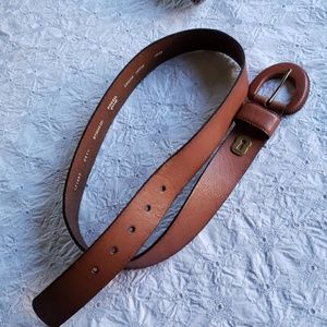 Fossil brown leather  belt Large